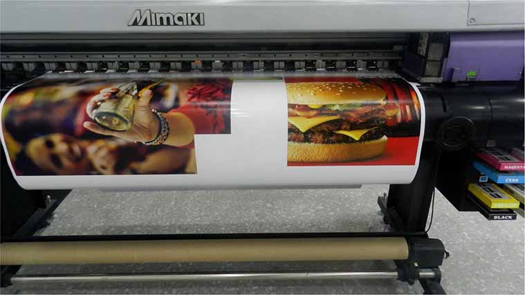 Printing a menu for a fast-food restaurant on an Opaque Vinyl Decal