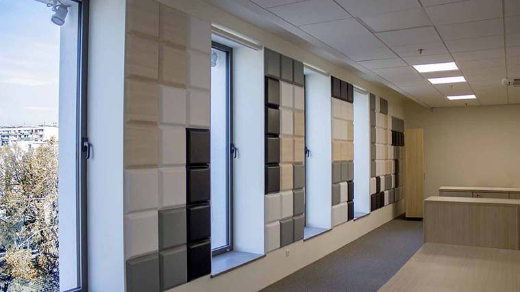 Beautiful Acrylic Accent Wall for the interior Office decorations