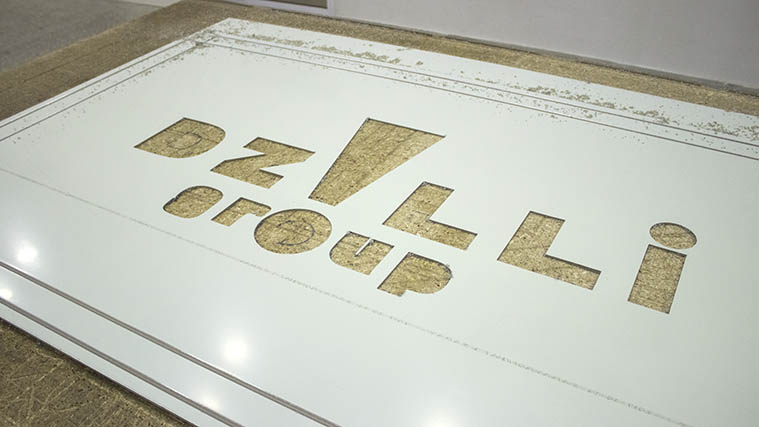 In-house cut through Letters on rigid Dibond sheet