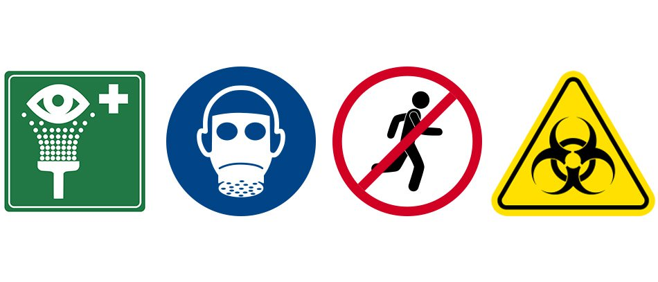 Safety signs for emergency