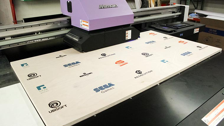 In-house high-quality Foamboard Direct Printing process