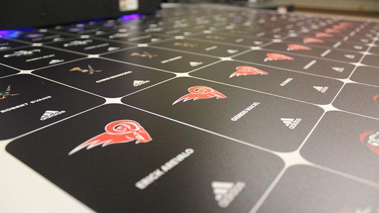 Direct printed vinyl stickers