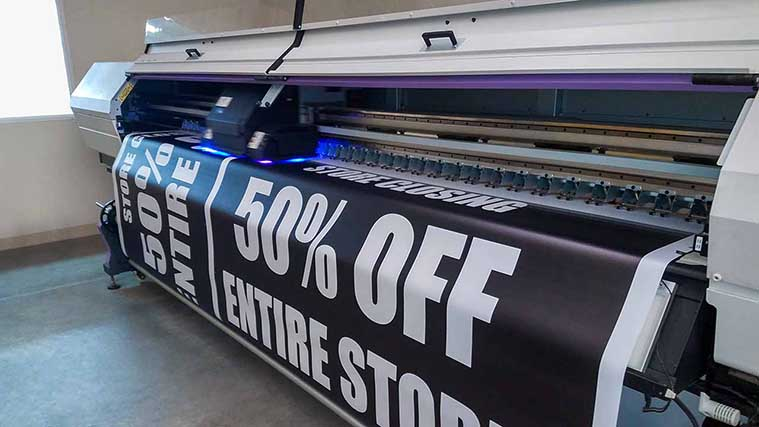 Discount banner printing