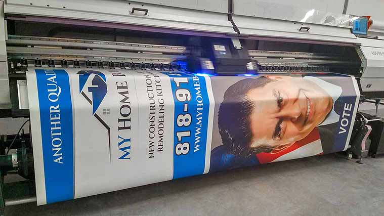 In-house Printing process of two different Vinyl Banners