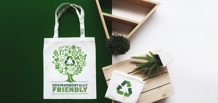 Tote bags as eco-friendly promotional items