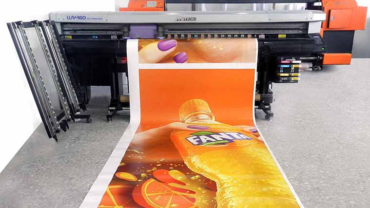Opaque Vinyl Decal for Fanta in the process of printing