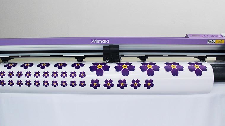 Printing forget-me-not flowers on high-quality Vinyl Stickers
