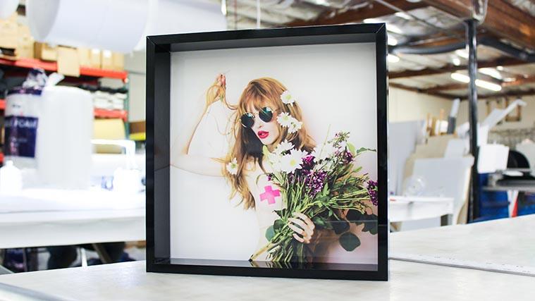 Framed Acrylic sign