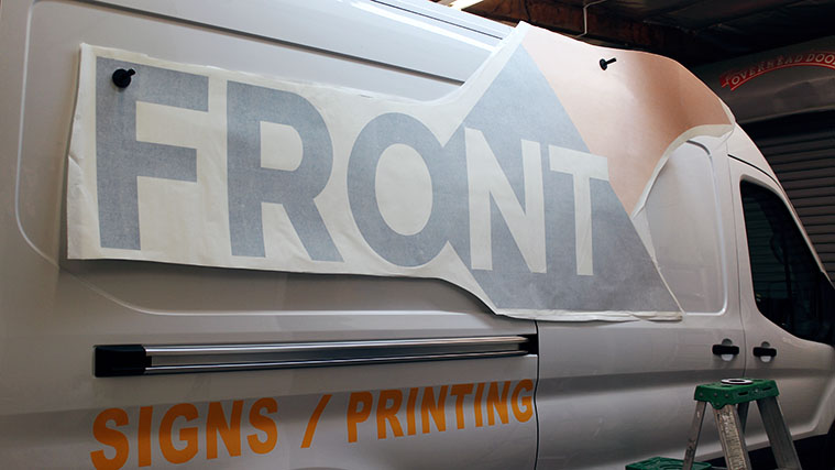 Front Signs vehicle branding