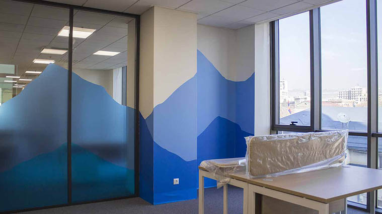 Frosted Glass and Wall Decals for office branding