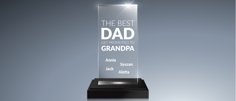 the best dad get promoted to grandpa acrylic blank award