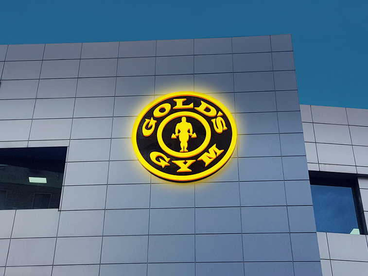 Gold's Gym Lightbox sign