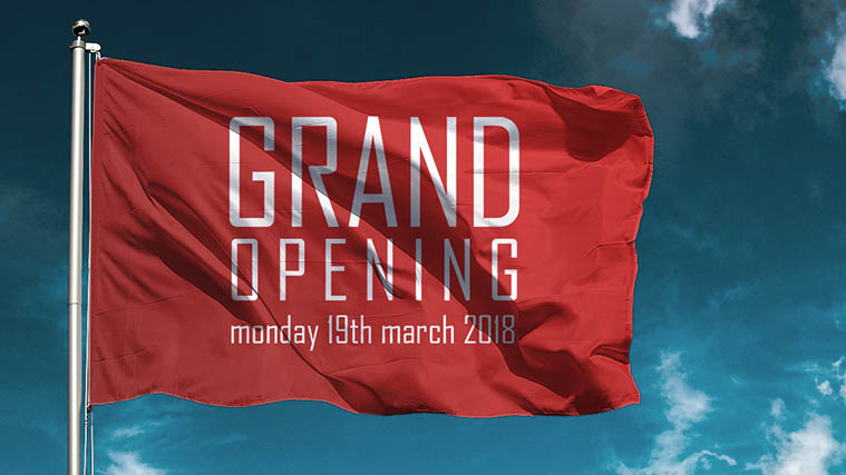 Grand opening business flag
