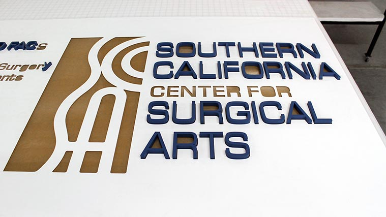 Installation of 3D letters