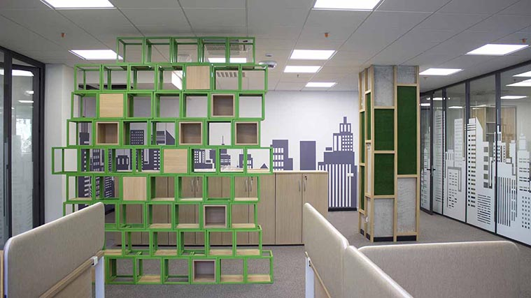 Office Interior Branding with different signage solutions