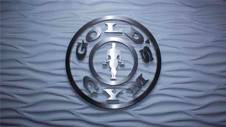 Beautiful Interior Aluminum Logo Sign for Gold's Gym
