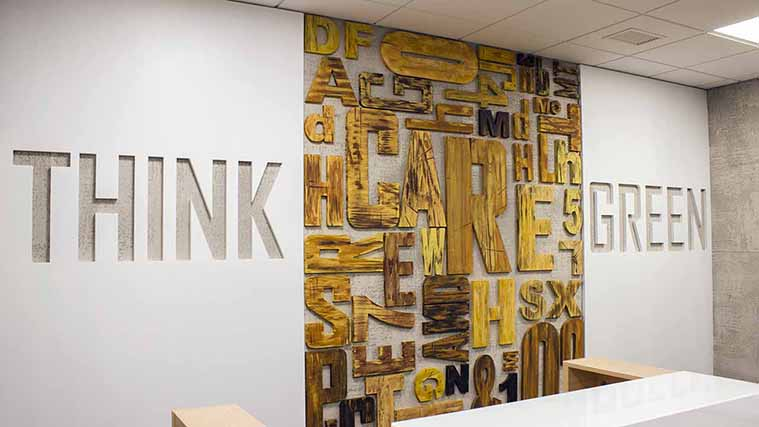 Beautiful and Unique Interior Wooden Signs for office decoration