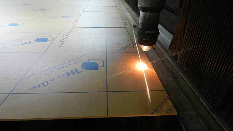 In-house Laser Cutting process of an Acrylic Sign