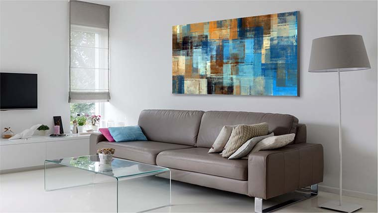Printed Canvas art as a living-room decoration