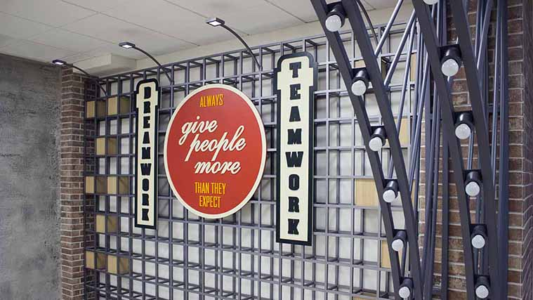 PVC interior decor signs