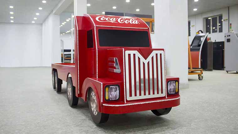 Custom promotional truck for Coca-Cola  made of custom PVC Boards