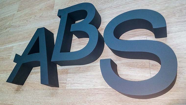 Custom Painted Aluminum Letters with the logo of the brand
