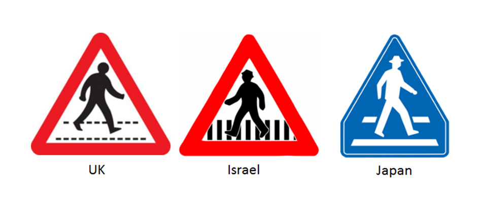 pedestrain road safety signs