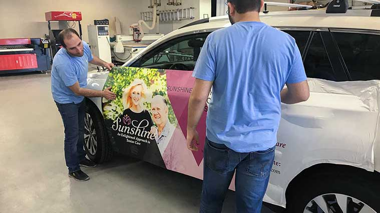 Wrapping a vehicle with custom Printed Opaque Vinyl