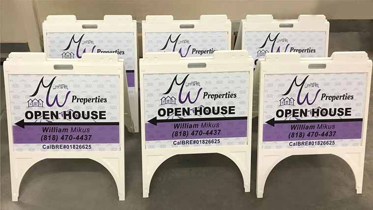 Open House A-frame Sign Printed on high-quality Coroplast