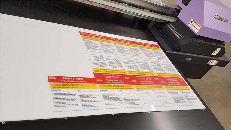 Acrylic Sign Printed with a high-quality UV curing printer