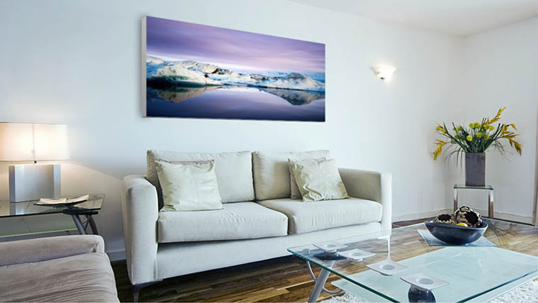 Stunning scenery Printed on a plain white edged Canvas