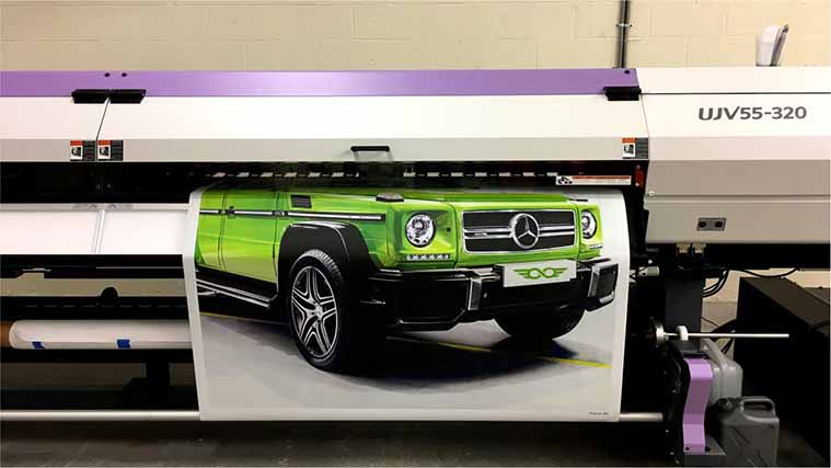 Printing a Custom Decal with a picture of a G-Wagon car