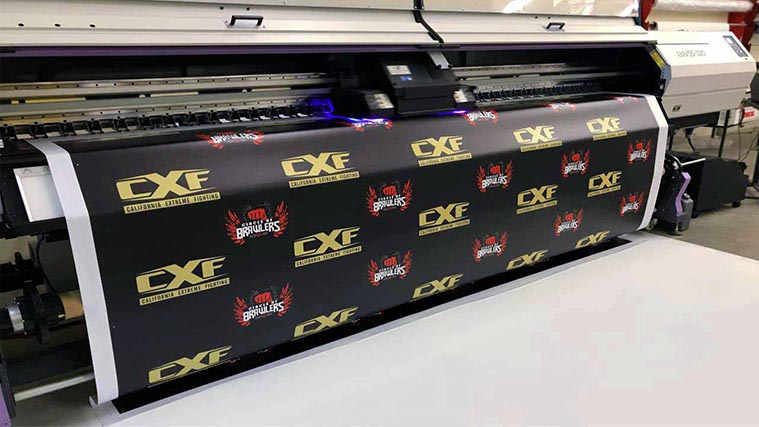 Vinyl Banner Printing process with high-quality printer