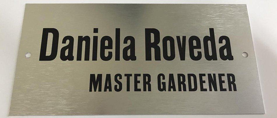 Master Gardener aluminum plaque