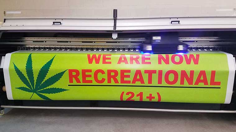 Printing sun resistant banners