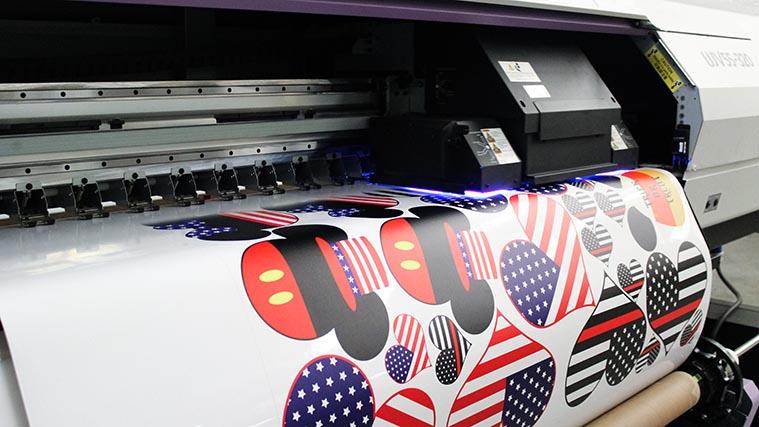 Printing vinyl stickers