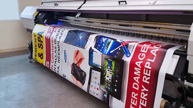 In-house Printing of a large Vinyl Banner for promotional purposes
