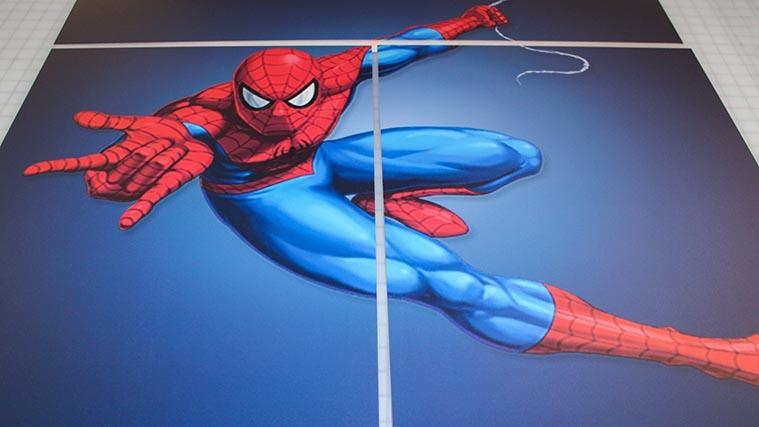 Spiderman PVC sign
