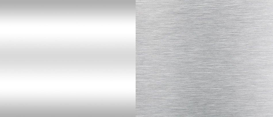 standard vs brushed aluminum panel sheet