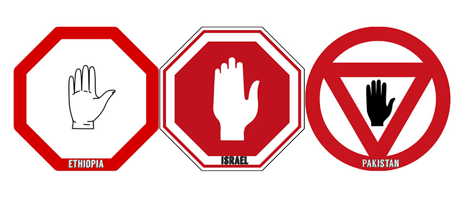 stop hand signs