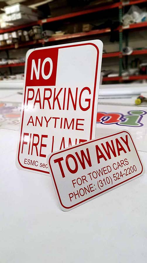 Street NO PARKING and TOW AWAY Aluminum Signs