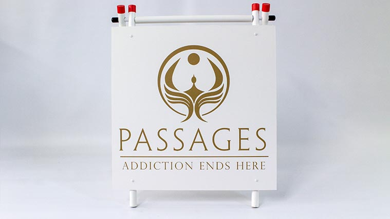 Simple and elegant Yard Sign printed on a Styrene board