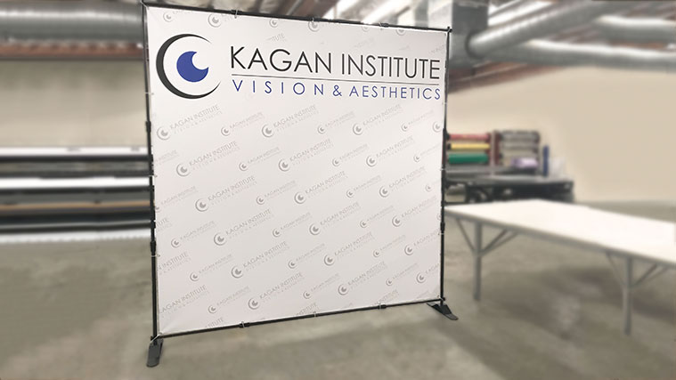 Telescopic Banner Stand for our customers at Kagan Institute