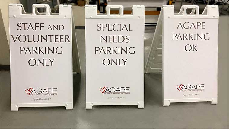 Opaque Vinyl Printed Custom A-frame Signs for a parking space