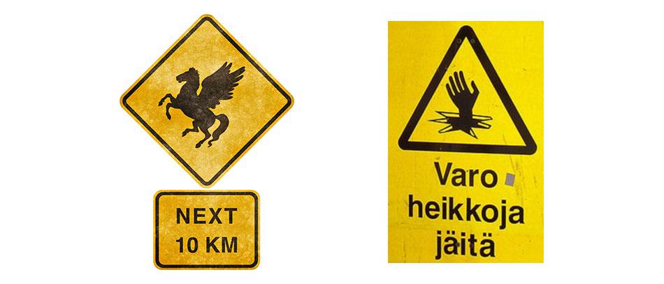 Traffic board signs
