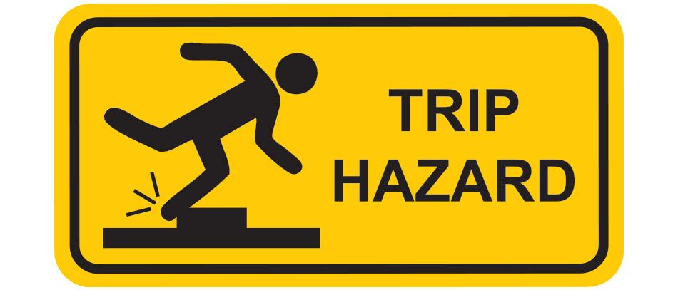 Trip Hazard warning traffic sign