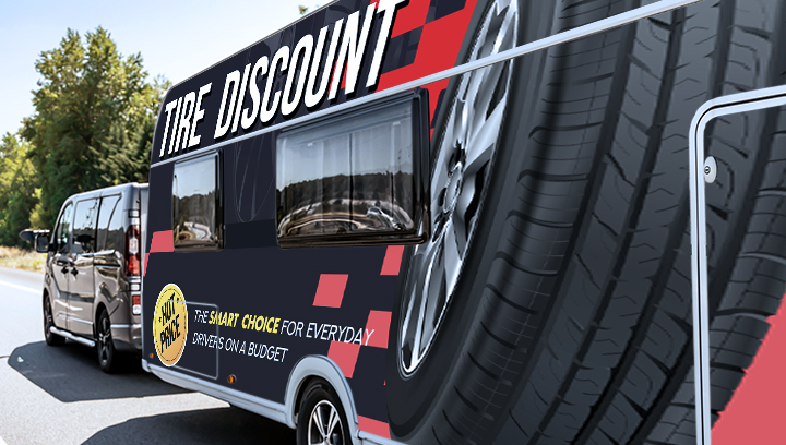 promotional trailer graphics in a large size made of vinyl