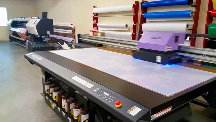 The process of printing on a Transparent Acrylic sheet