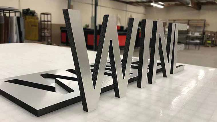 Ultraboard Letters Sign Custom cut to WINE