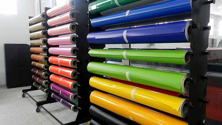 Vinyl rolls in every color and shades used for making beautiful Signs